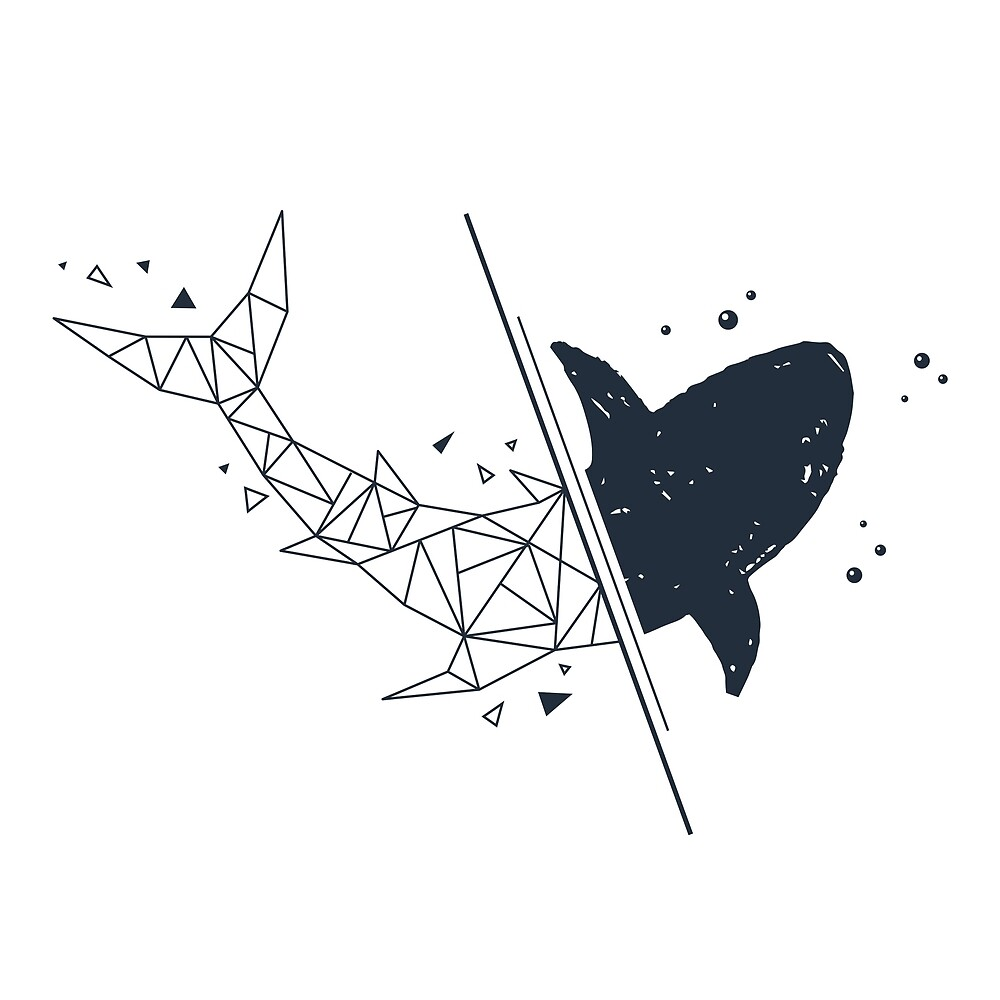 Shark. Geometric style by CosmicStore