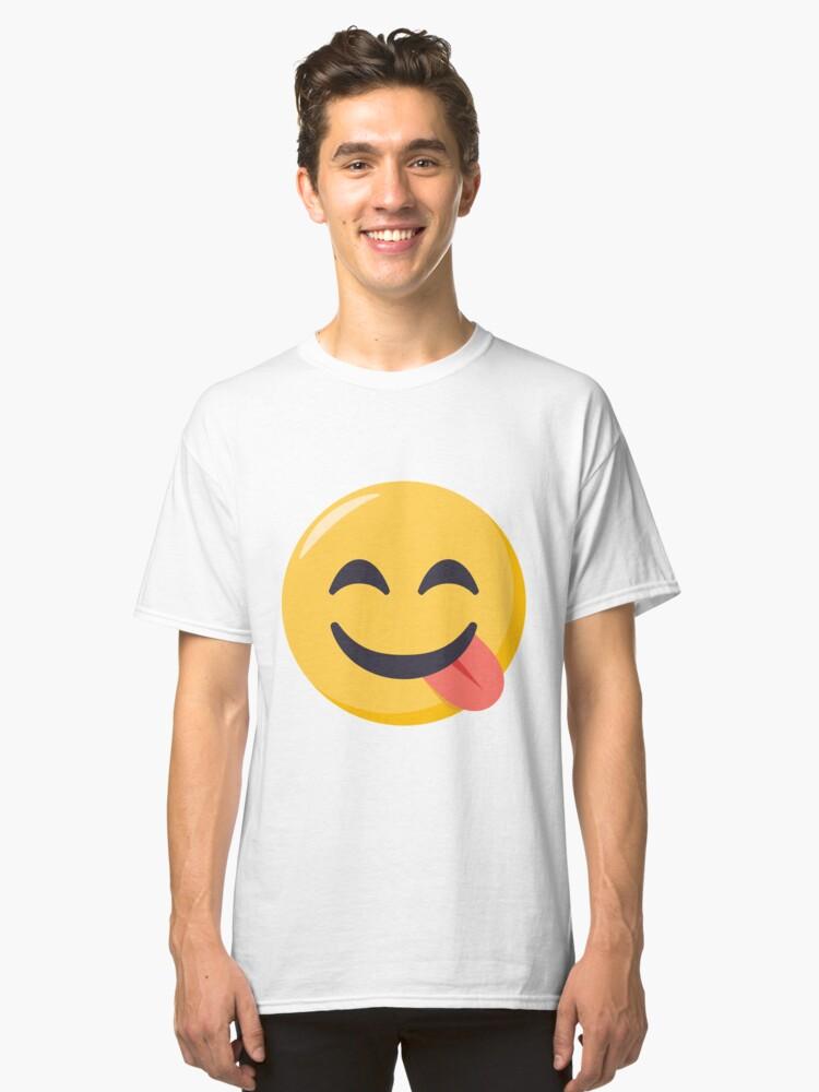 JoyPixels Face Savoring Food Emoji Classic T-Shirt Front