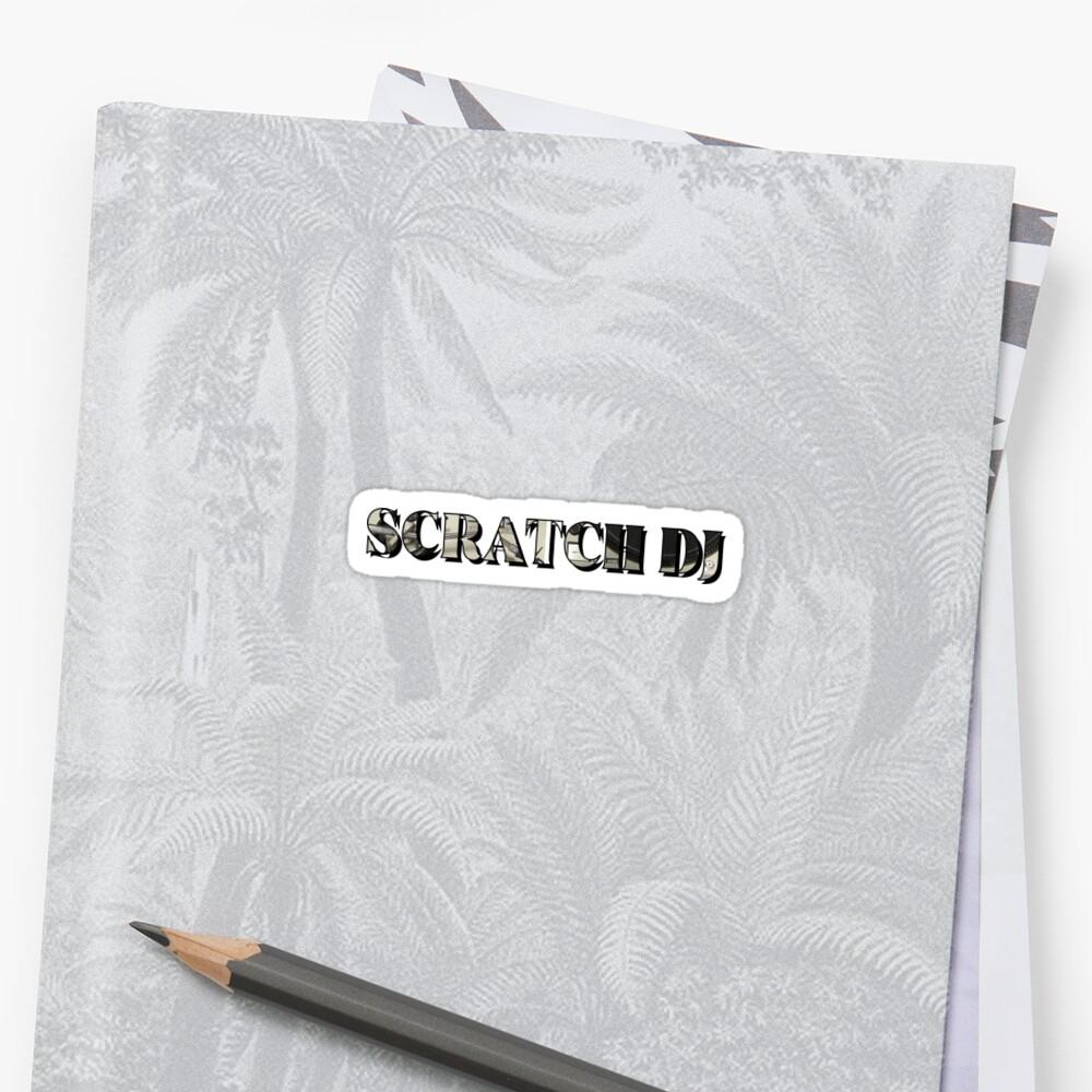 Scratch DJ Technics Sticker Front