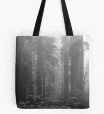 REDWOODS IN FOG Tote Bag