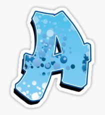 A - bubbles Sticker