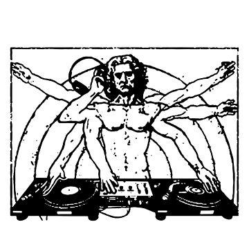 Da Vinci Vitruvian Man Festival Party DJ Design by Funny-stuff
