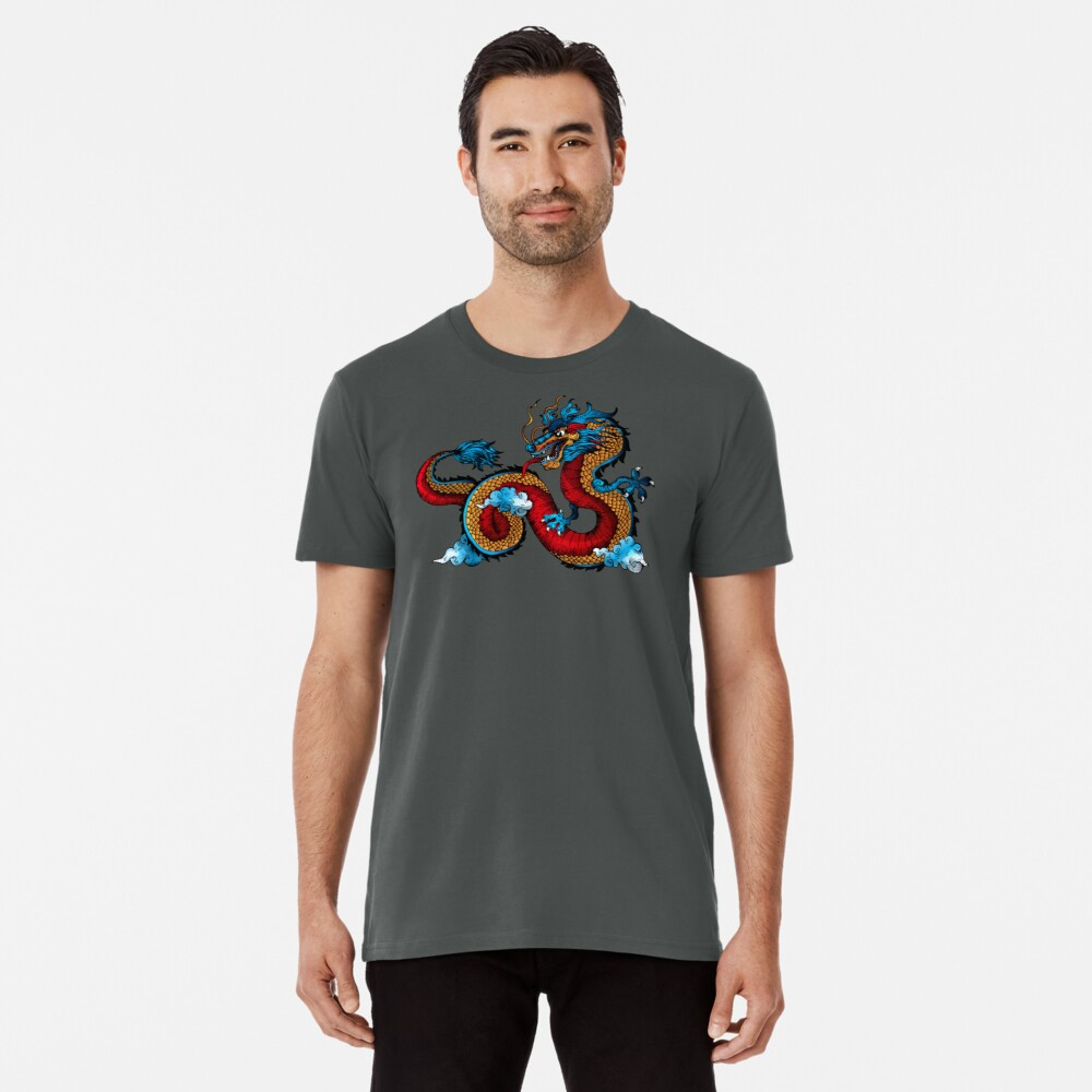 Dragon Tattoo Men's Premium T-Shirt Front