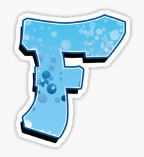 F - bubbles Sticker