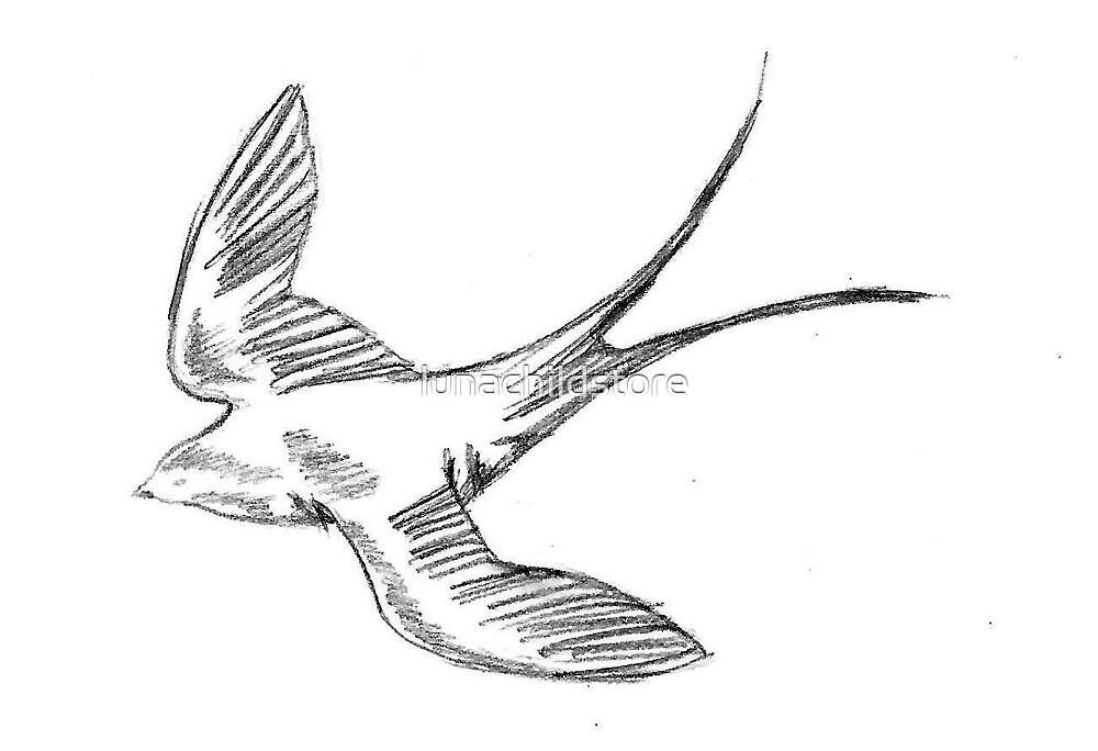 Swallow by lunachildstore