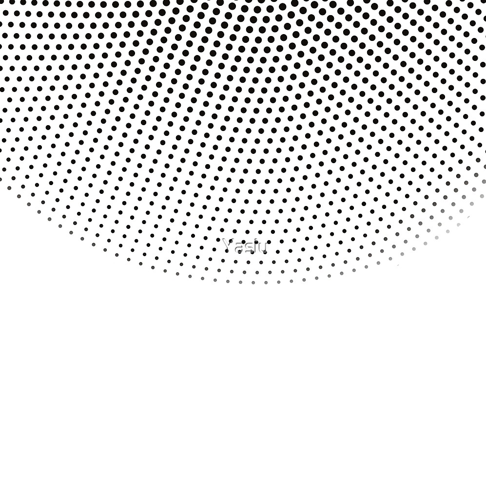 Black dots on the white background by Yasiu