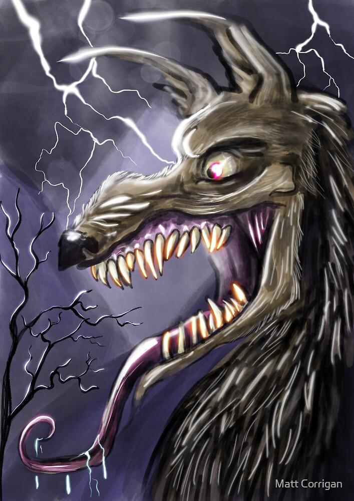 Werewolf at night by Matt Corrigan