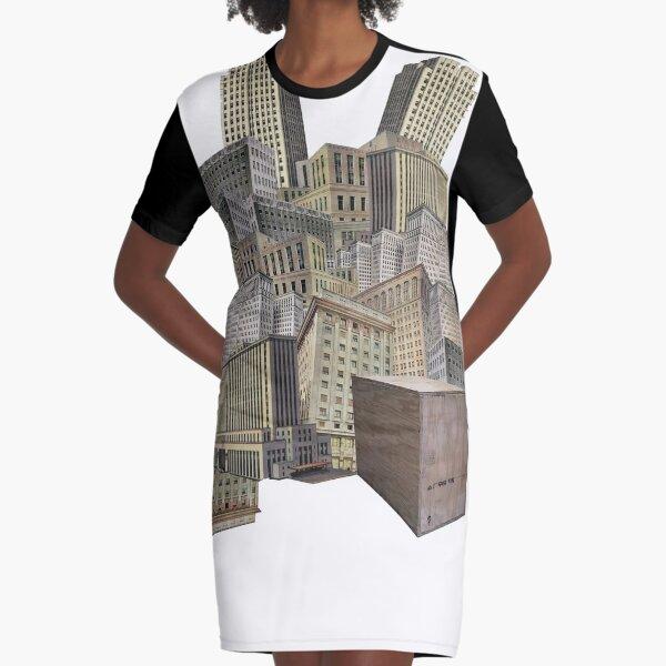 Sonder Collage Graphic T-Shirt Dress