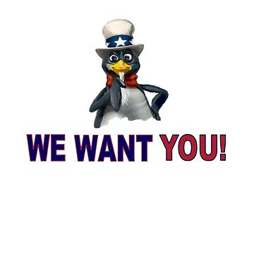 We Want You! - Linux SAM TUX by BadMister