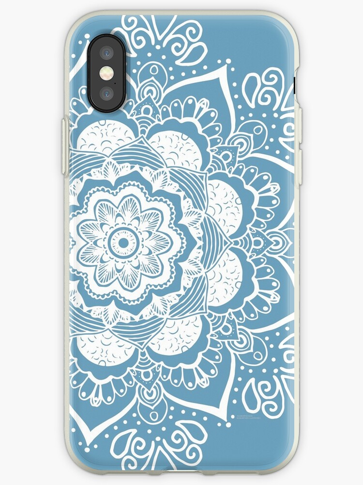 Mandala Art Slightly blue iPhone case by Bluebdesigns