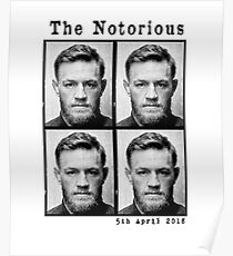 """The Notorious """"Conor McGregor"""" Mugshot 2018 Poster"""
