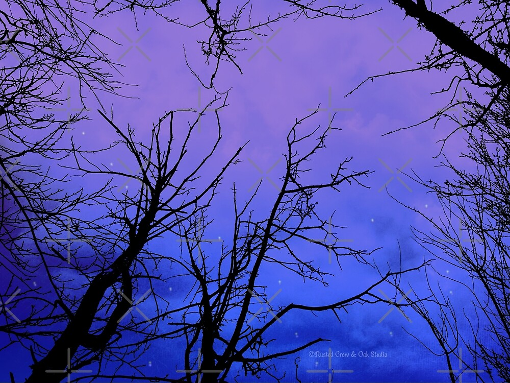 Purple Clouds Cloudy Trees Sky Vivid Violet A178 by byNicol