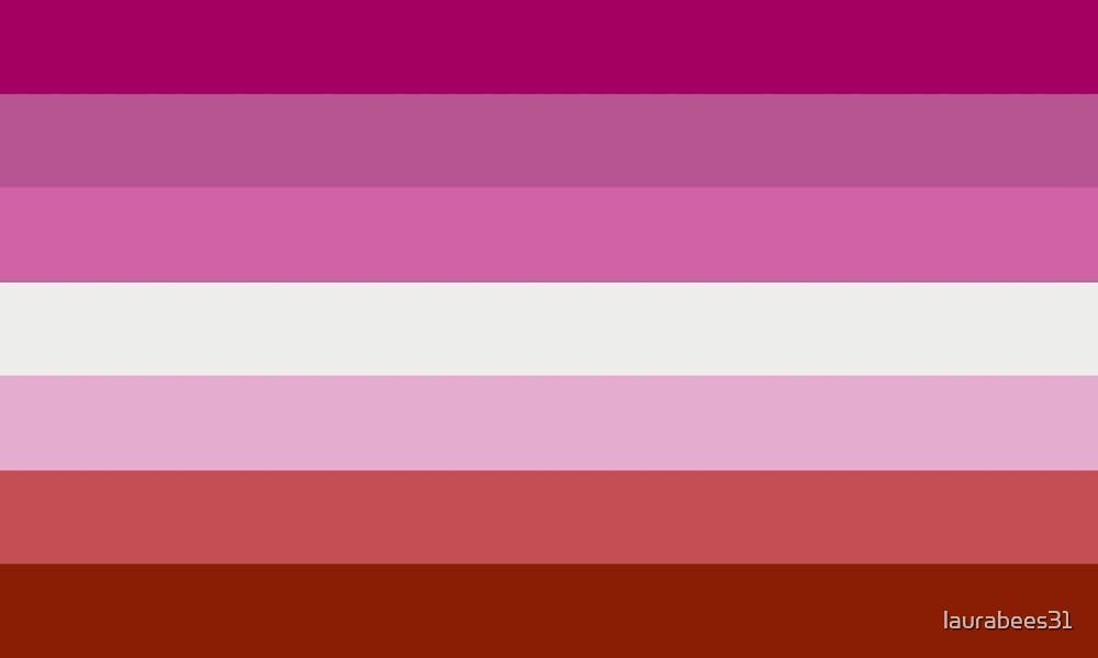Lesbian Pride Flag LGBT by laurabees31