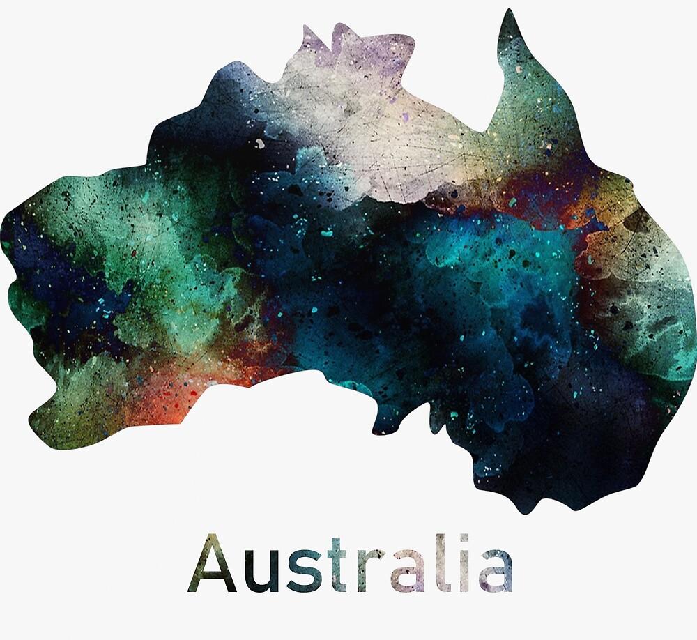 Australia map by mrporter1011
