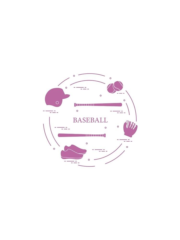 Baseball bats, glove, balls, helmet, shoes. by aquamarine-p