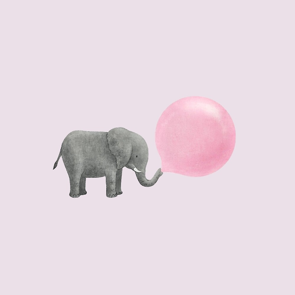 Elephant bubble chewing gum  by medflix