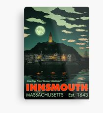Greetings from Innsmouth, Mass Metal Print