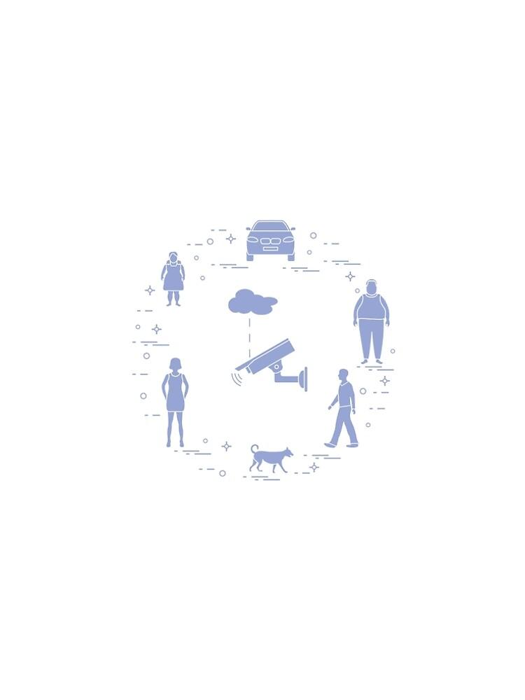 Security camera, dog, woman, girl, men, car. by aquamarine-p