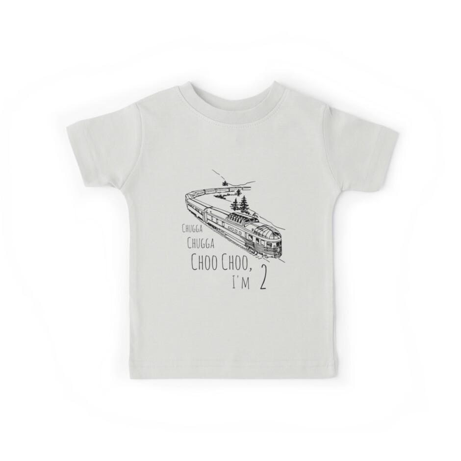 Chugga Chugga Choo Choo I'm Two Boys Birthday Train Design by SharkaSplat