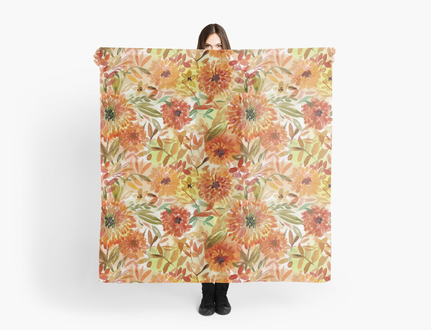 Marigold repeat pattern by denadraws