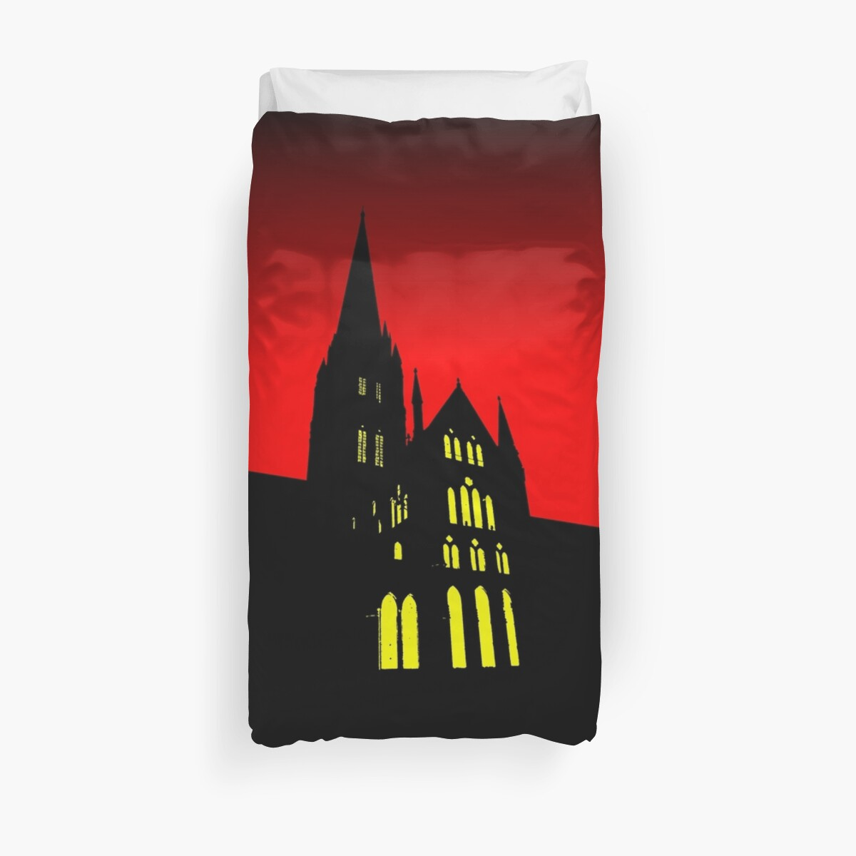 Cathedral Silhouette Red by QuarterMoon