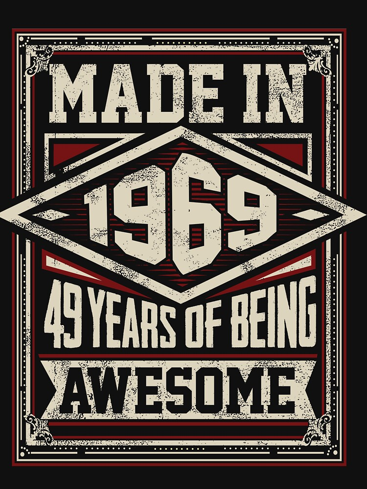Made In 1969 49 by MADLABSGEAR