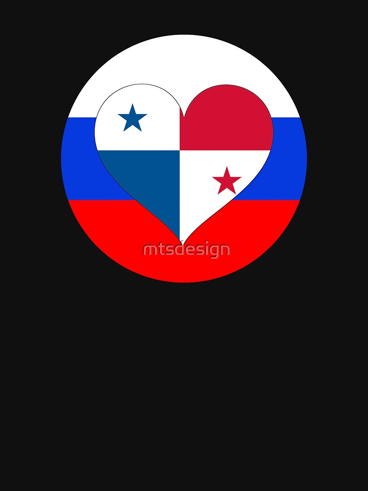 PANAMA RUSSIA football heart by mtsdesign