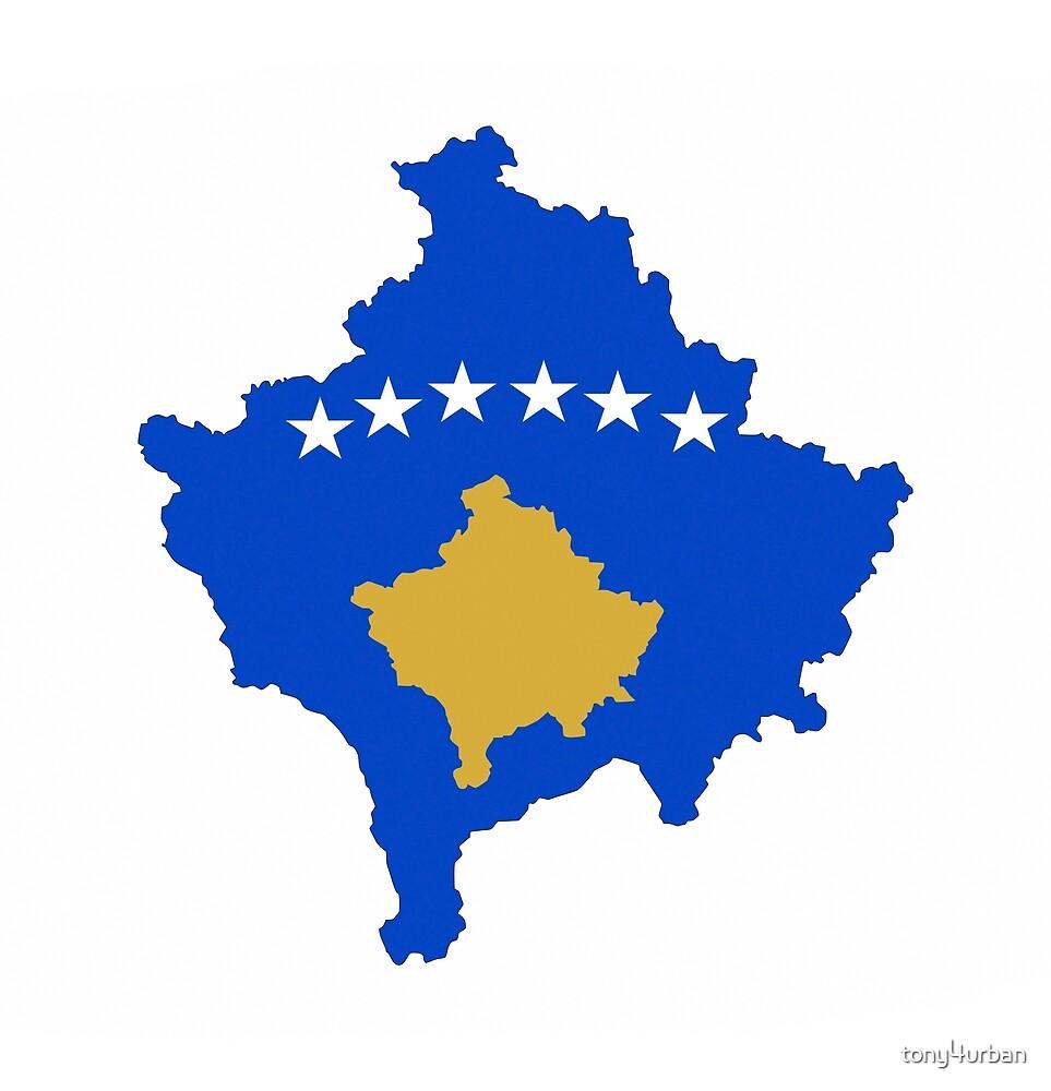 Kosovo flag map by tony4urban