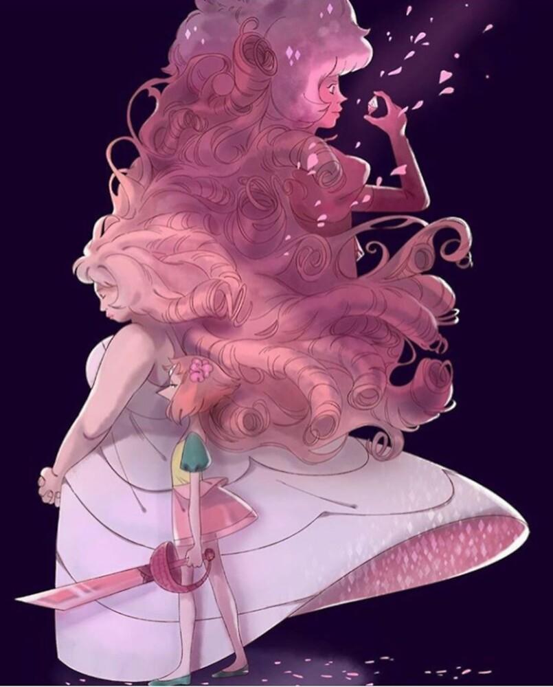 My Diamond - Pearl & Rose Quartz/Pink Diamond by BobbyMShaw