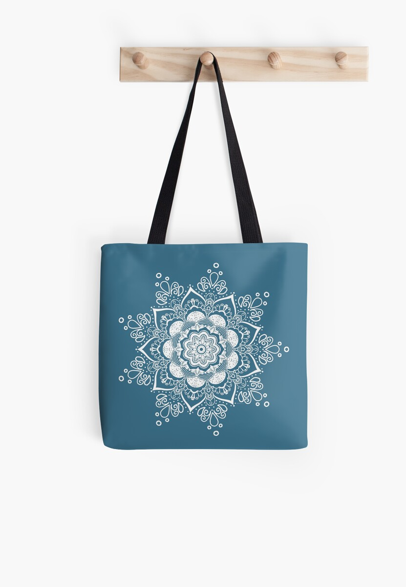 Dark Blue Tote Bag by Bluebdesigns