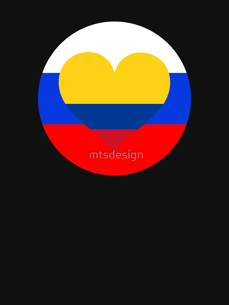 COLUMBIA RUSSIA football heart by mtsdesign