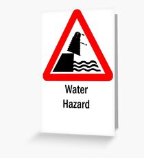 Water Hazard Greeting Card