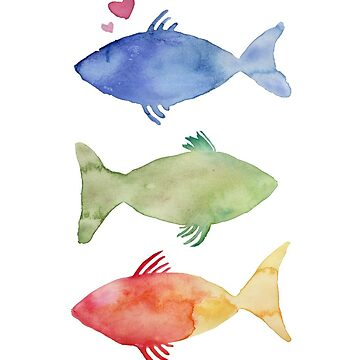 Watercolor Fish by abrowdy