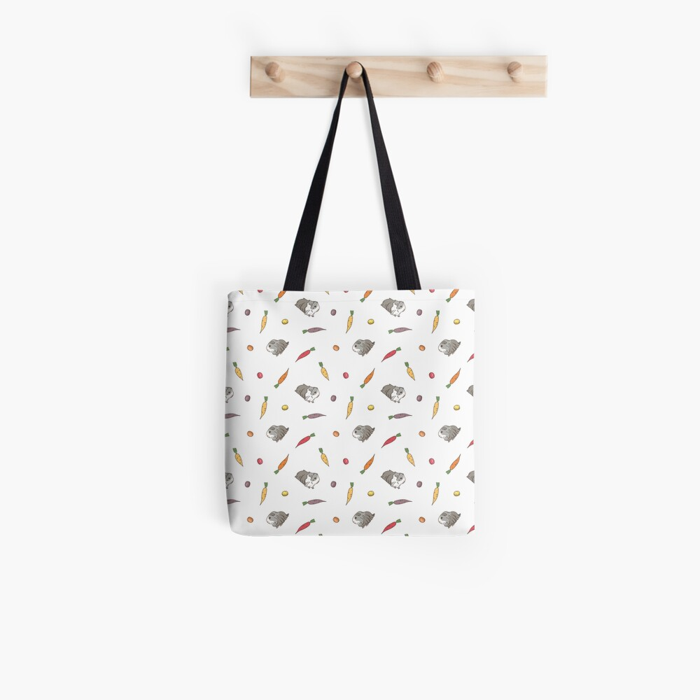Carrots and Silkie Guinea Pigs Pattern Tote Bag