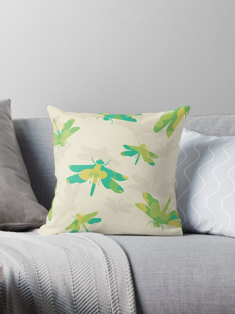 FLORAL DRAGONFLY SILHOUETTE PATTERN by Karl Perkins