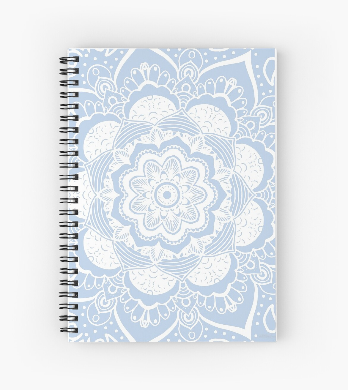 Spiral Notebook Mandala Art Grayish blue by Bluebdesigns