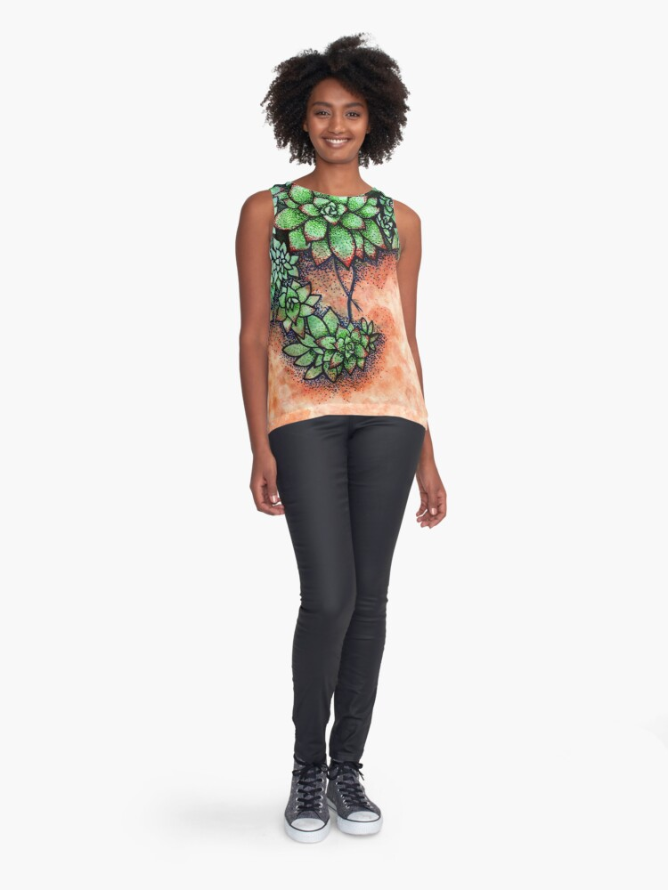 Alternate view of Succulents Contrast Tank