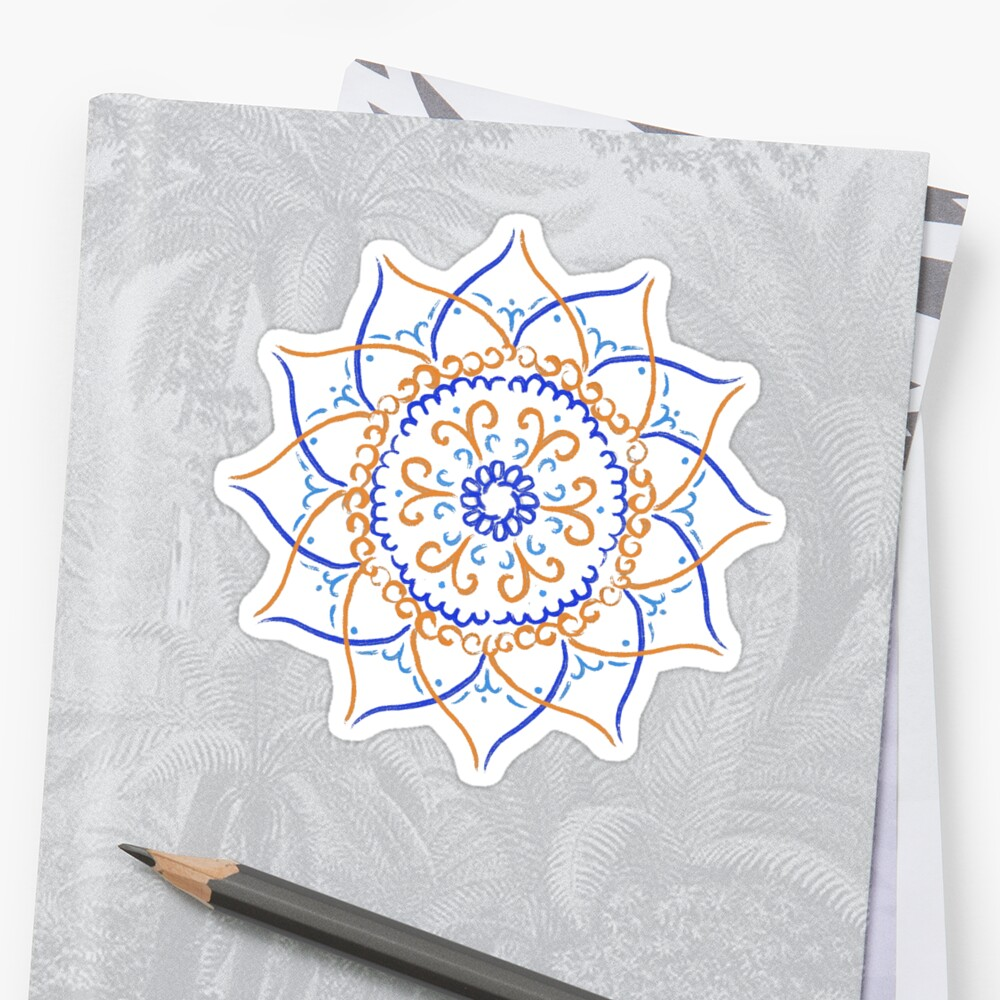 Blue and Orange Flower by itsneha