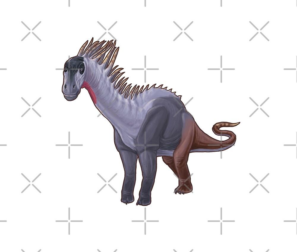 Amargasaurus cazaui by Sean Closson