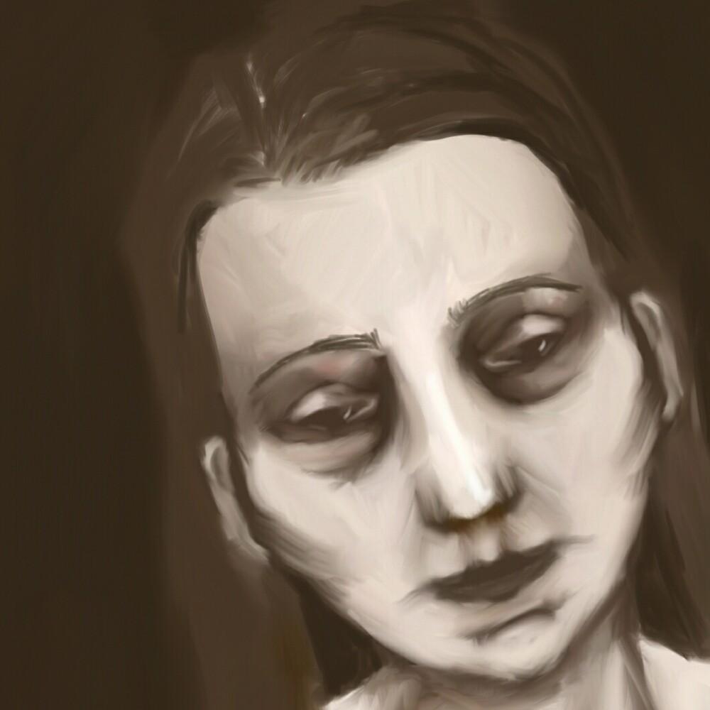 A portrait of feeling down by Bevelien