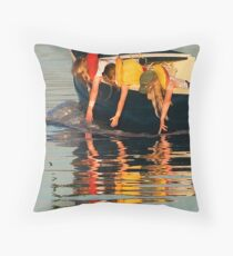 The Water Fiddlers Throw Pillow