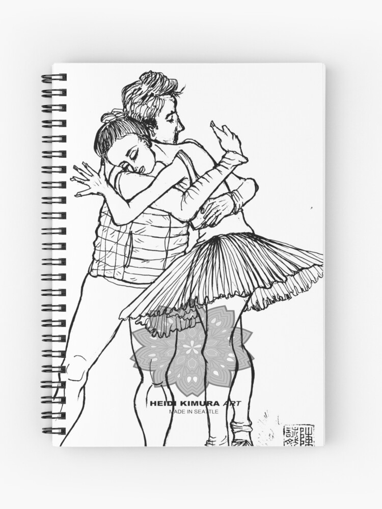 Couple Ballet Art Adult Coloring Page PDF Printable Digital Dance  Art Instant Download Colouring Book  Hand Drawn Gift for Ballerina Dancer    Spiral ...