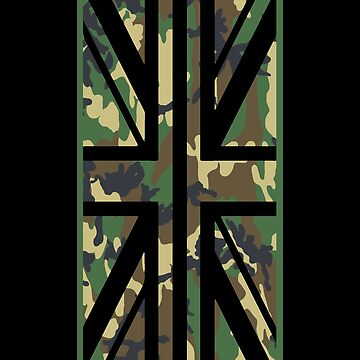 Union Jack Camo Flag Vertical by yoshi77
