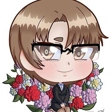 Chibi Jaehee with camellias by thejaguar9