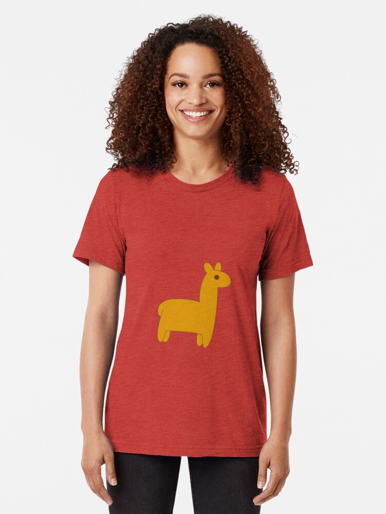 Alternate view of Mabel's Lama Sweater Tri-blend T-Shirt