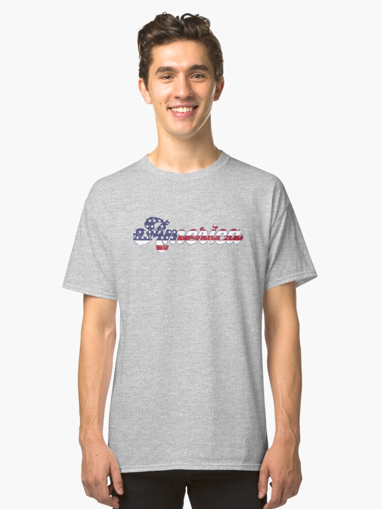 Rustic Vintage America Classic T-Shirt Front
