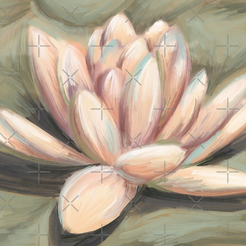 Water Lily - Peach by DesignByMCA