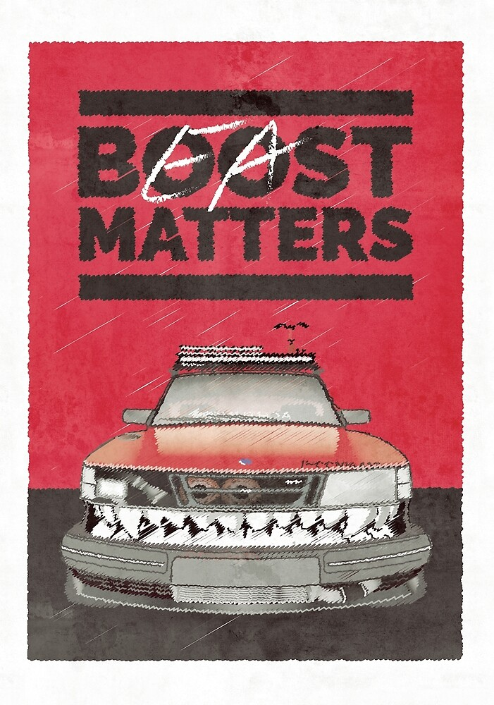 Saab 900 - Boost Matters (Full Size Print) by saabthehague