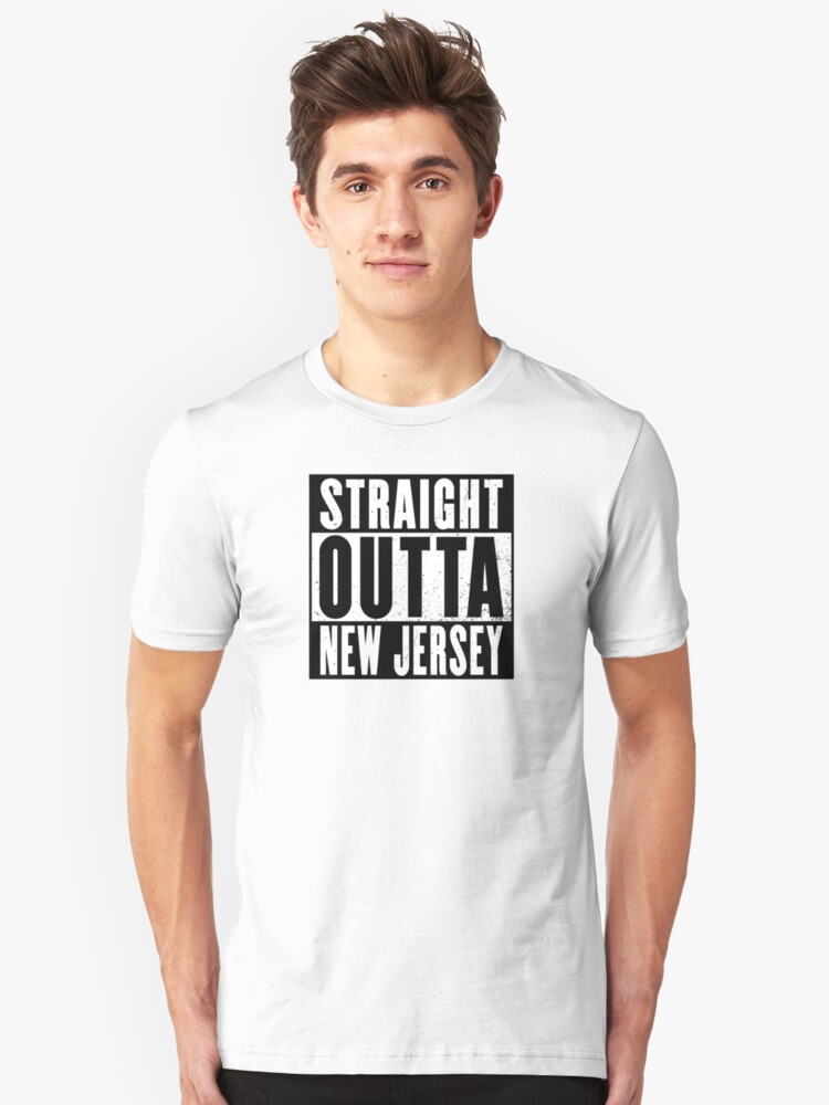 STRAIGHT OUTTA NEW JERSEY Unisex T-Shirt Front