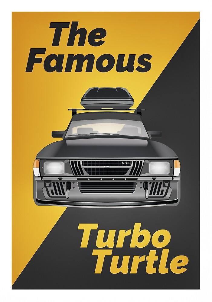 Saab 900 - Turbo Turtle (Full Size Print) by saabthehague